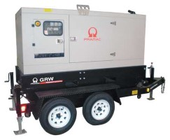 PRAMAC GRW35Y Diesel Switchable 1 & 3 PH -Trailer