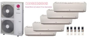 LG LMU540HV LSN090HSV4 (FOUR) LSN180HSV4 Five Zone Ductless Split Air Conditioner
