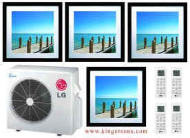 LG LMU36CHV  LMAN097HVP (TWO) LMAN127HVP (TWO) Art Cool Quad Zone Air conditioner