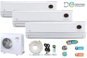 YMGI Tri-Zone WMMS48CHV2B59 WMMS18EWV2B59 (THREE) Ductless Split AC