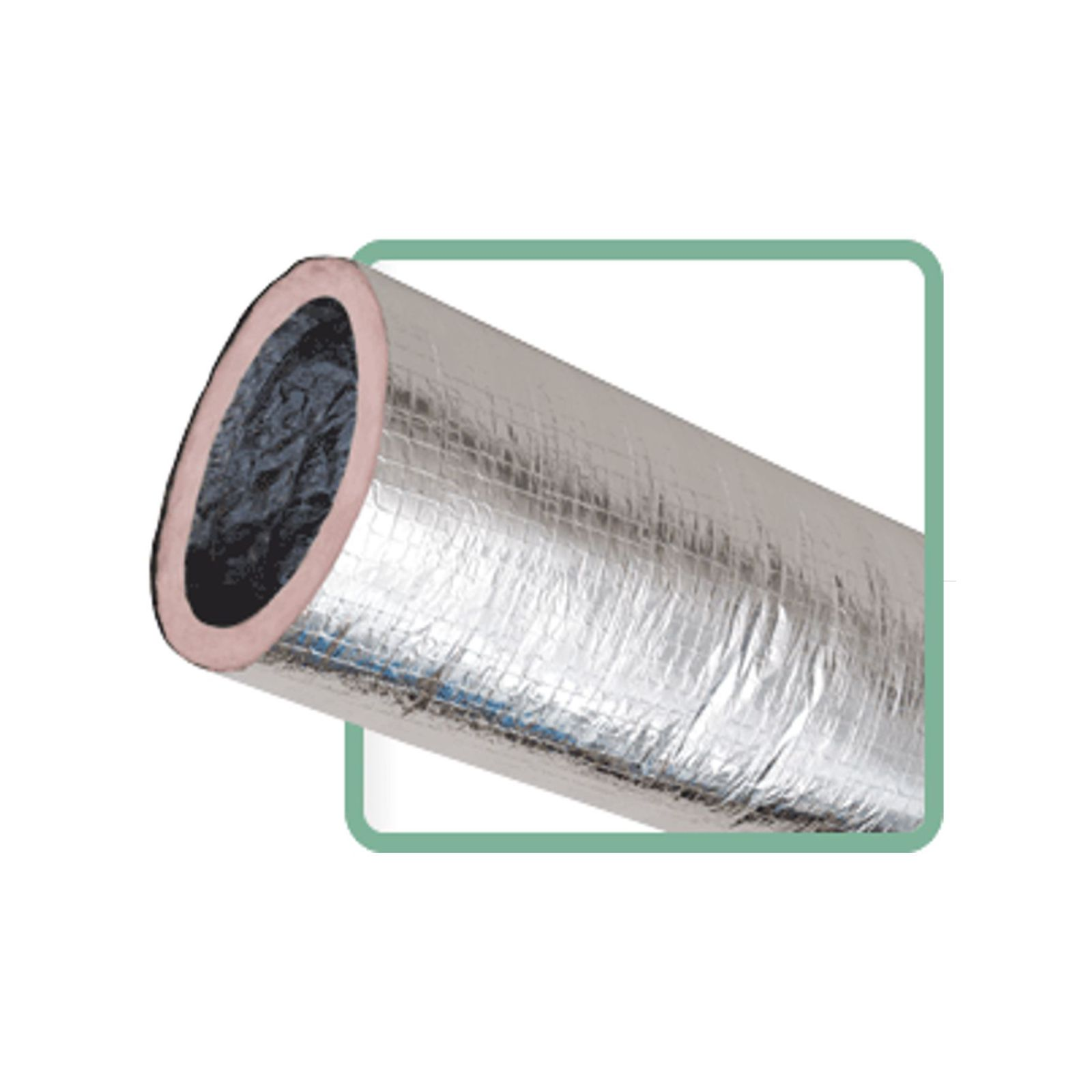 "Thermaflex 056318000107 - KM Silver Flex-Vent Insulated Flexible Duct Assembly, 18"" X 7', R8"