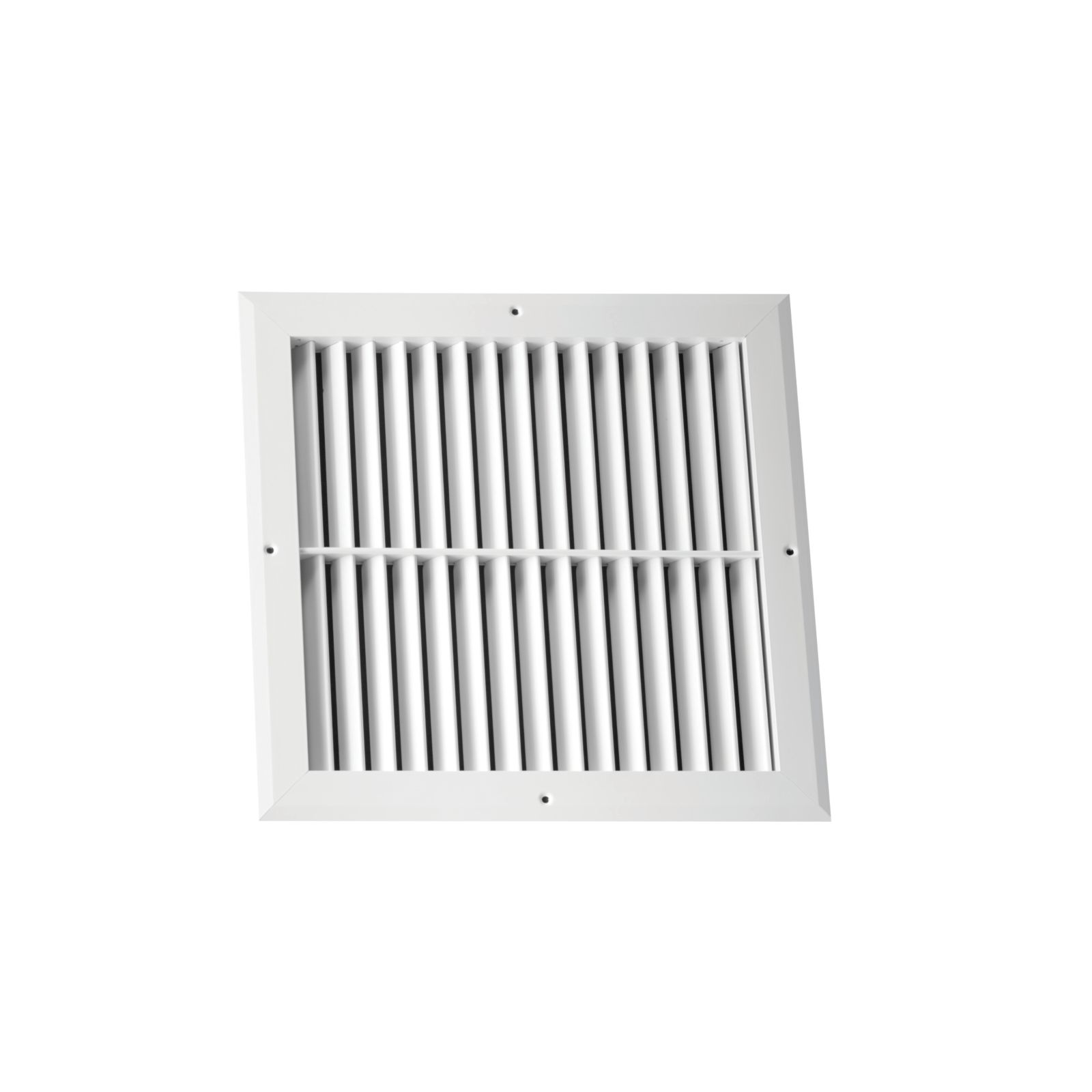 "Hart & Cooley 064065 - Aluminum Return Air Grille, 45-Degree Fixed Blade, White Finish, 24"" X 12"""