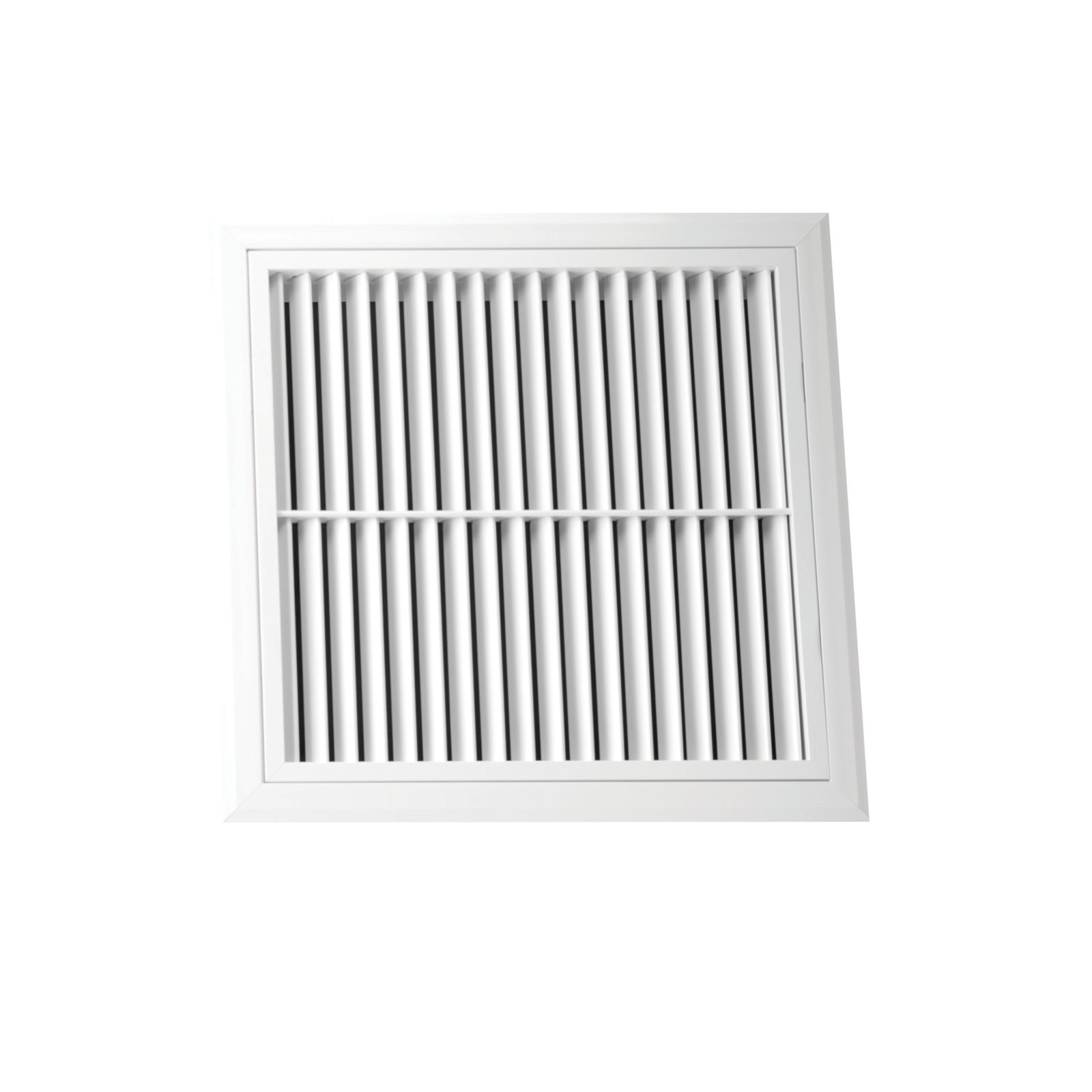 "Hart & Cooley 067110 - Aluminum Return Air Filter Grille, 45-Degree Fixed Blade, White Finish, 30"" X 24"""