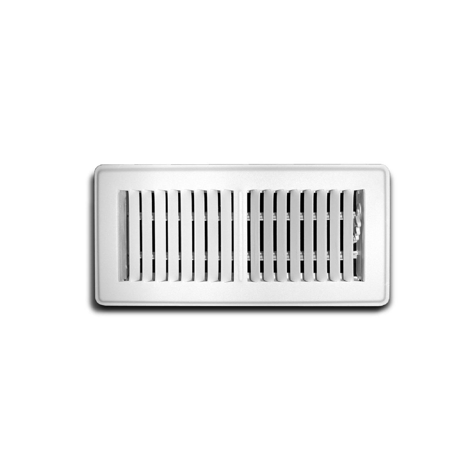 "TRUaire 150MW 06X10 - Steel Stamped Face Floor Diffuser, White, 06"" X 10"""