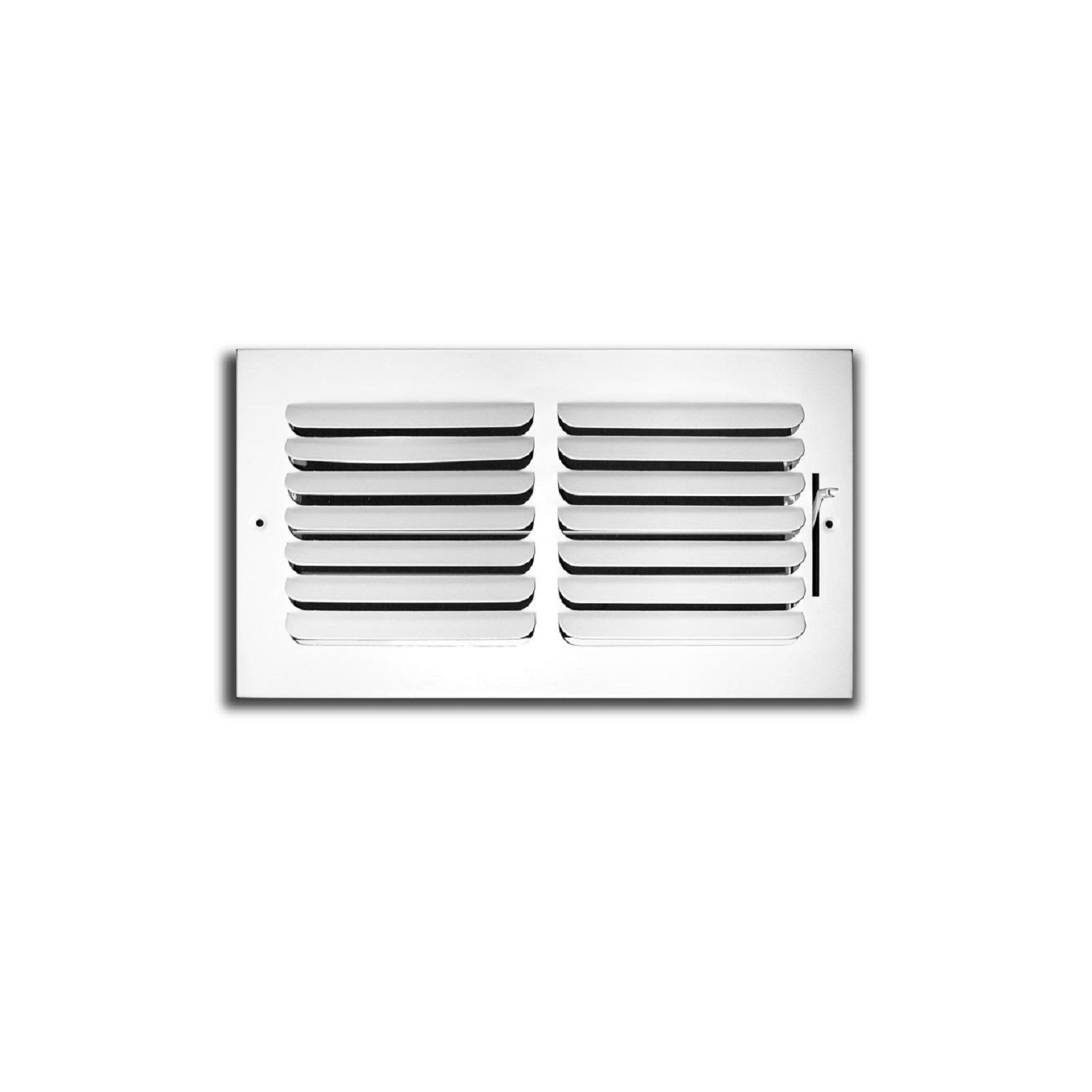 "TRUaire 401M 10X04 - Fixed Curved Blade Wall/Ceiling Register 401M With Multi Shutter Damper, 1-Way, White, 10"" X 04"""
