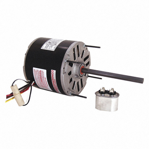 CENTURY 1/3 HP Condenser Fan Motor,Permanent Split Capacitor,1075 Nameplate RPM,460 Voltage,Frame 48Y