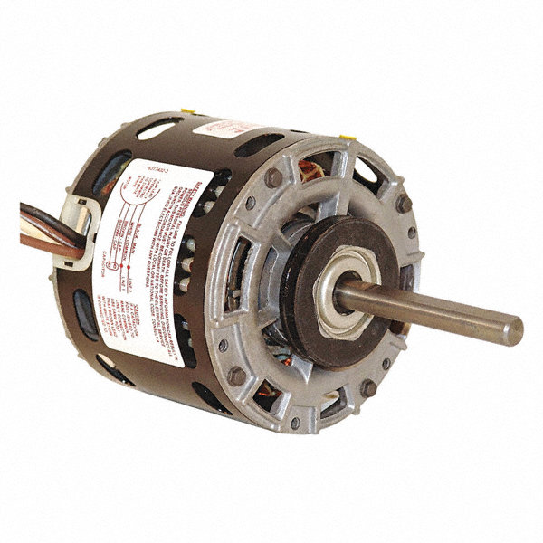 CENTURY 1/4 HP Direct Drive Motor, Permanent Split Capacitor, 1100 Nameplate RPM, 208-230 VoltageFrame 42