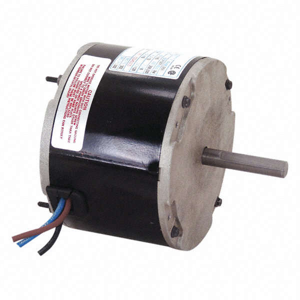CENTURY 1/8 HP Condenser Fan Motor, Permanent Split Capacitor, 1650 Nameplate RPM, 200-230 Voltage