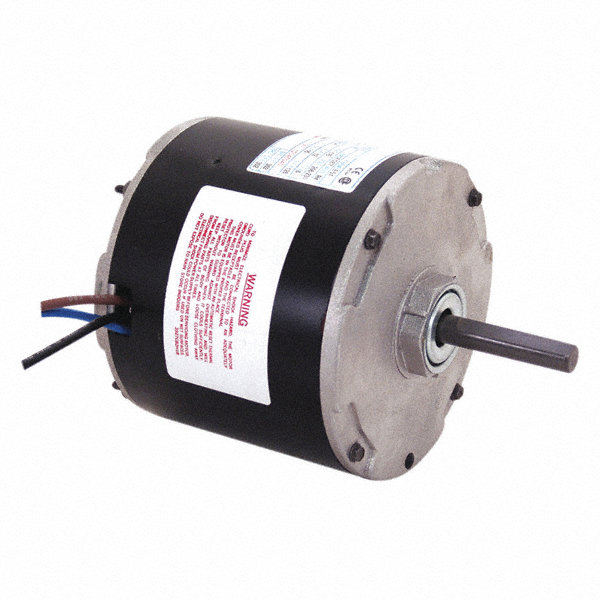 CENTURY 1/5 to CENTURY 1/8 HP Condenser Fan Motor, Permanent Split Capacitor, 1075 Nameplate RPM, 230 Voltage