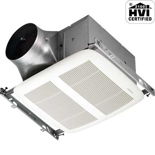 NuTone XN110 110 CFM 0.3 Sone Ceiling Mounted Energy Star Rated and HVI Certified Bath Fan from the ULTRA GREEN Collection