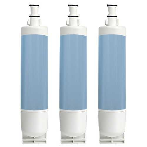 Whirlpool ED5FTGXKQ02 / GS5SHAXNL01 Replacement Refrigerator Water Filter by Aqua Fresh (3 Pack)