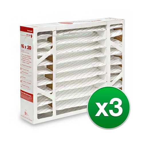 Replacement Pleated Air Filter for for Honeywell 16x20x5 MERV 11 (3-Pack)