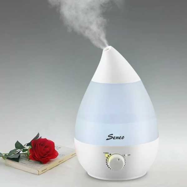 Seneo Super-Quiet Ultrasonic Aromatherapy 2.3L Capacity Output Cool Mist HumidifierΓÇï - White