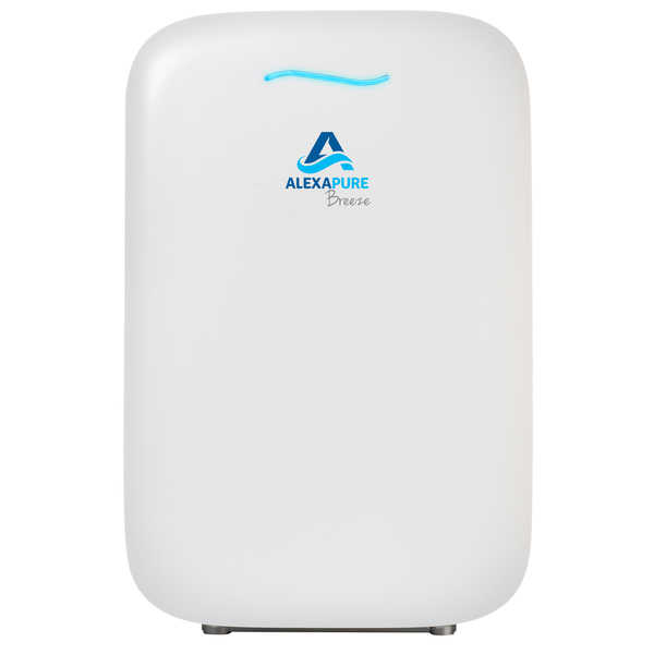 Alexapure Breeze White Energy-Efficient HEPA+ IonCluster Air Purification System - White