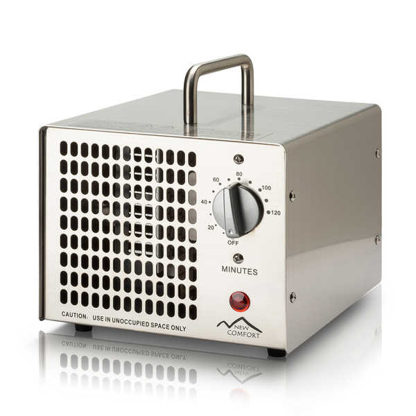 New Comfort Commercial-Grade Stainless Steel 5000mg O3 Ozone Generator Air Purifier - Stainless