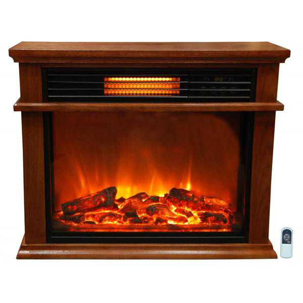 Lifesmart LS2003FRP13-IN Easy Set 1000 Square Foot Infrared Fireplace Includes Deluxe Mantle In Quakerstown Oak Remote & Extended Warranty