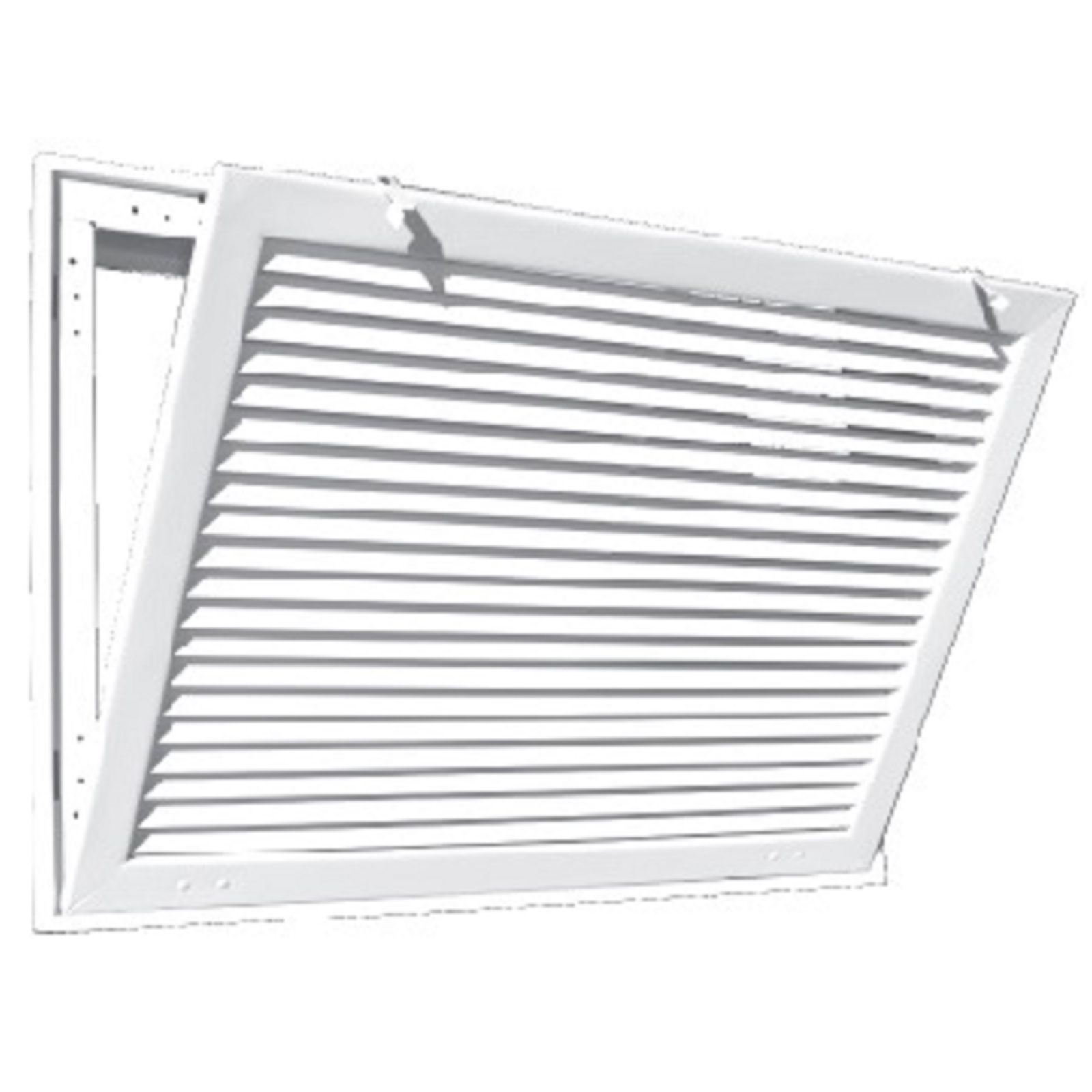 "TRUaire A290 30X24 - Aluminum Fixed Bar Return Air Filter Grille, White, 30"" X 24"""