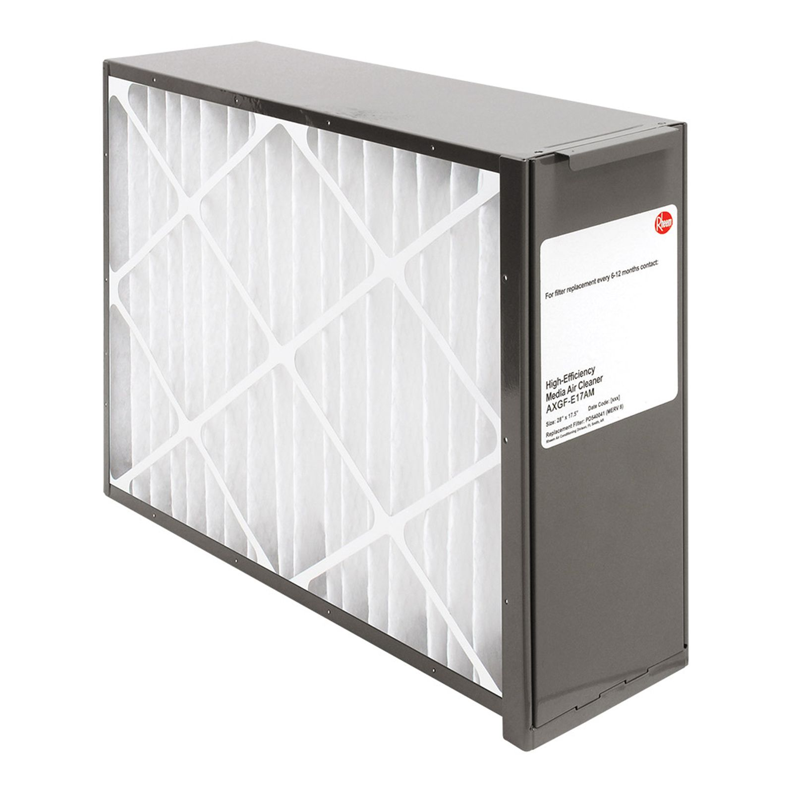Rheem AXGF-E17AM -  PROTECH Exact Fit Media Air Cleaners for Gas Furnaces - Includes Merv 8 Filter Media - 17 1/2""