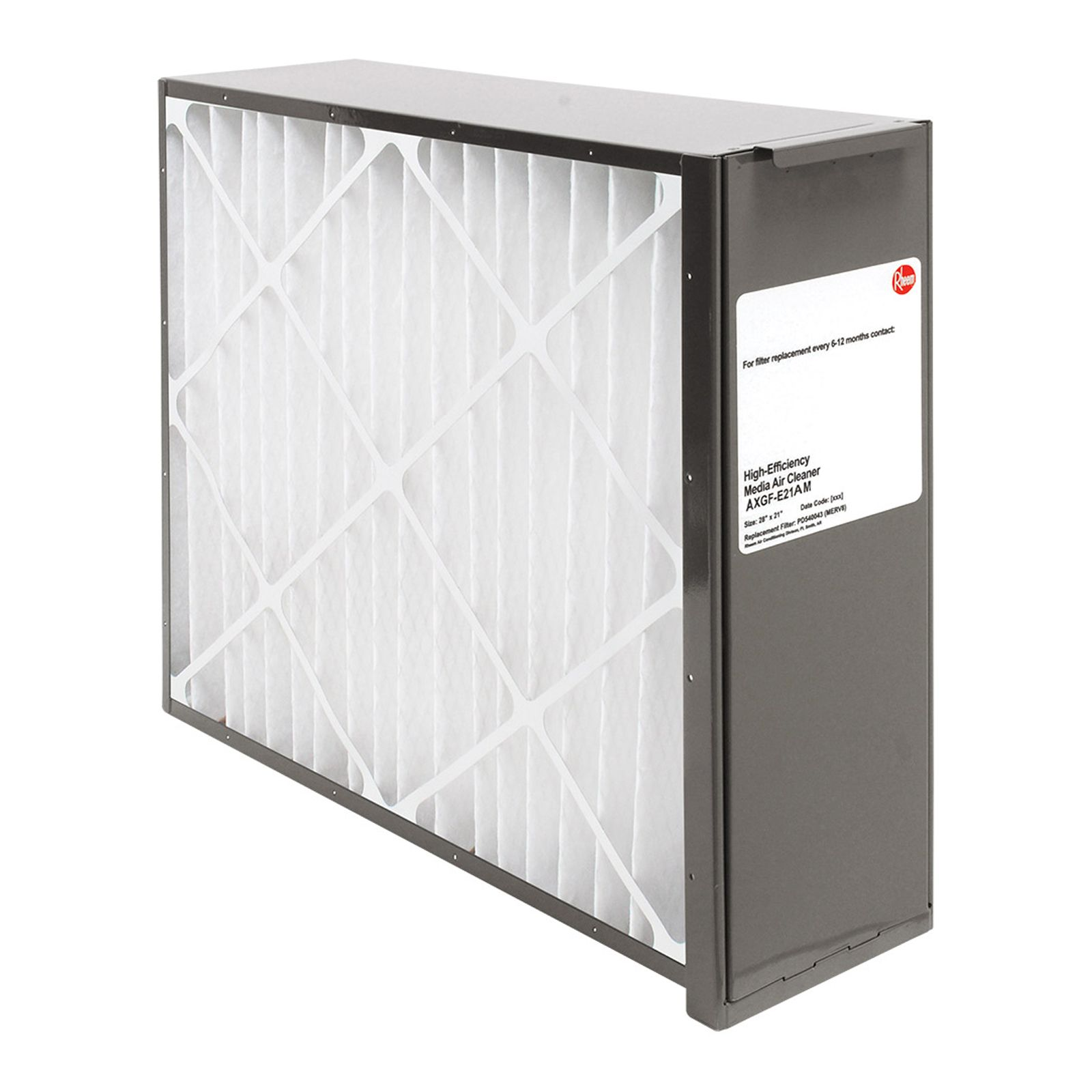 Rheem AXGF-E21AM -  PROTECH Exact Fit Media Air Cleaners for Gas Furnaces - Includes Merv 8 Filter Media - 21 1/8""