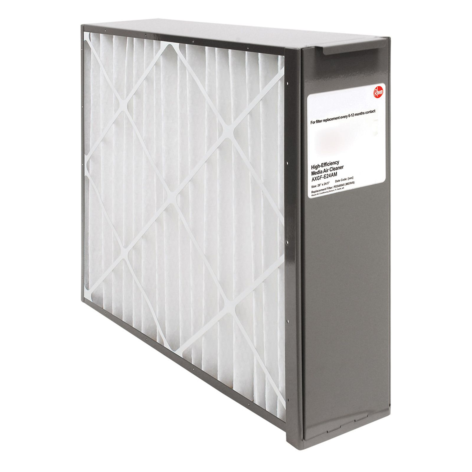 Rheem AXGF-E24AM -  PROTECH Exact Fit Media Air Cleaners for Gas Furnaces - Includes Merv 8 Filter Media - 24 1/2""