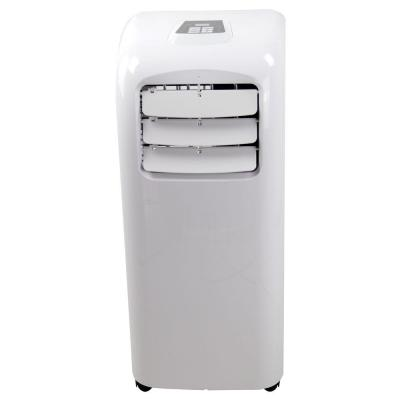 Global Air 8,000 BTU Ultra Compact Portable Air Conditioner and Dehumidifier Function with Remote Control-White