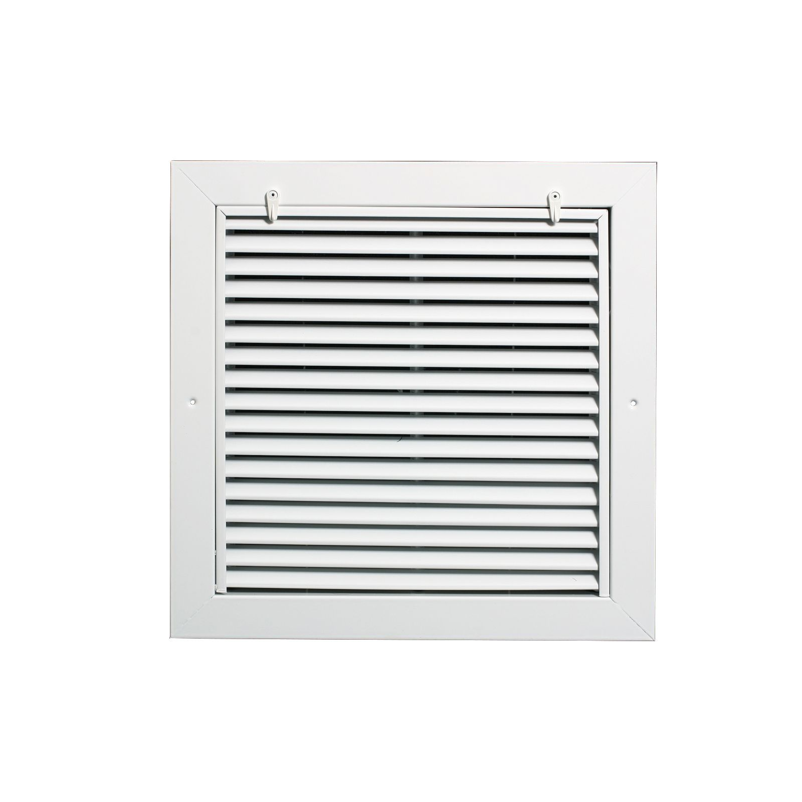 "Grille Tech RAFFS2018 - Aluminum Return Air Filter Grille, Filter Size 20"" X 18"" White"