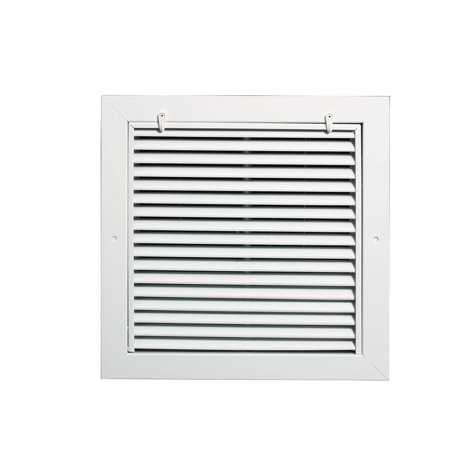 "Grille Tech RAFGS1616 - Aluminum Return Air Filter Grille, Grille Size 16"" X 16"" White"